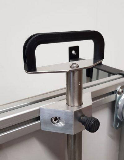 Detail Handgriff - Klappfahrstativ für den mobilen Anästhesiearbeitsplatz   TSL Medizintechnik