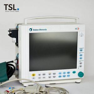 Gebrauchter Patientenmonitor S5 Datex inkl. Zubehör. Deutsches Bedienpaneel. Gebrauchtgeräte von TSL Medizintechnik.