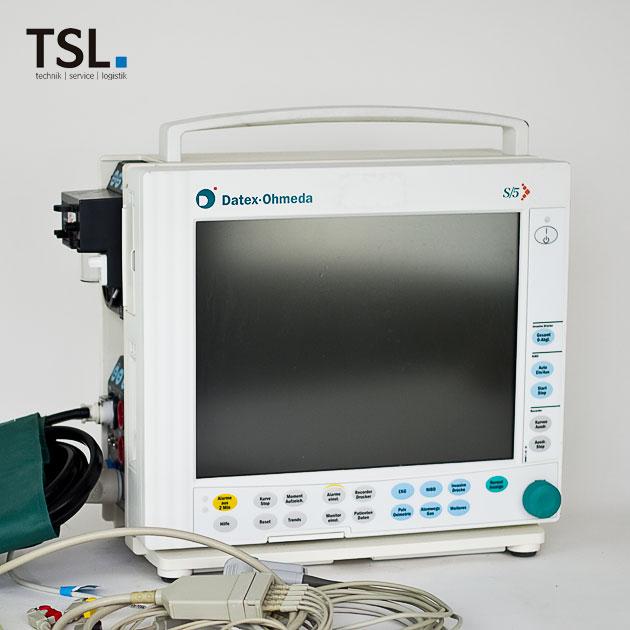 Gebrauchtgerät Monitor S5 Datex inkl. Zubehör - Deutsches Bedienpaneel | TSL Medizintechnik