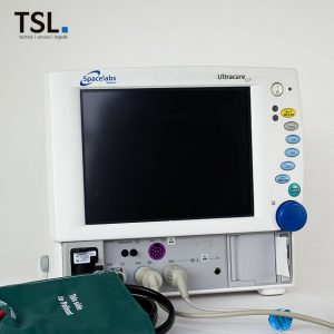 Patientenmonitor Ultracare von Spacelabs inkl. Zubehör. Baugleich zu Cardiocap 5 von Datex. Gebrauchtgeräte von TSL Medizintechnik.